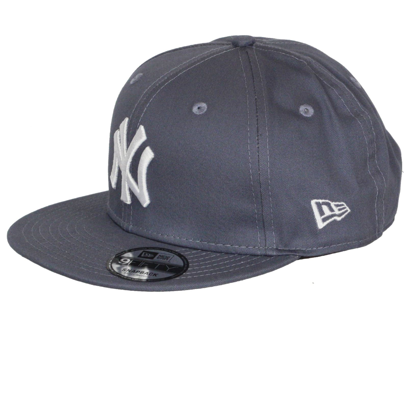 New-Era-League-Essential-9Fifty-Flatbill-Cap-New-York-Yankees-grey thumbnail 5
