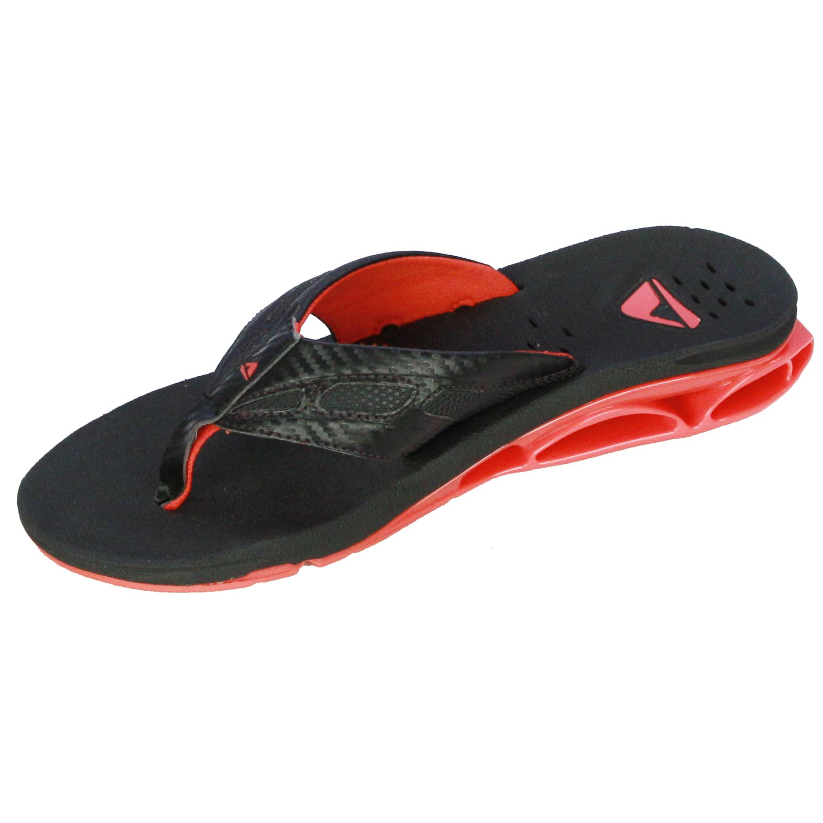 reef men 39 s sandal with bottle opener xs1 red black ebay. Black Bedroom Furniture Sets. Home Design Ideas