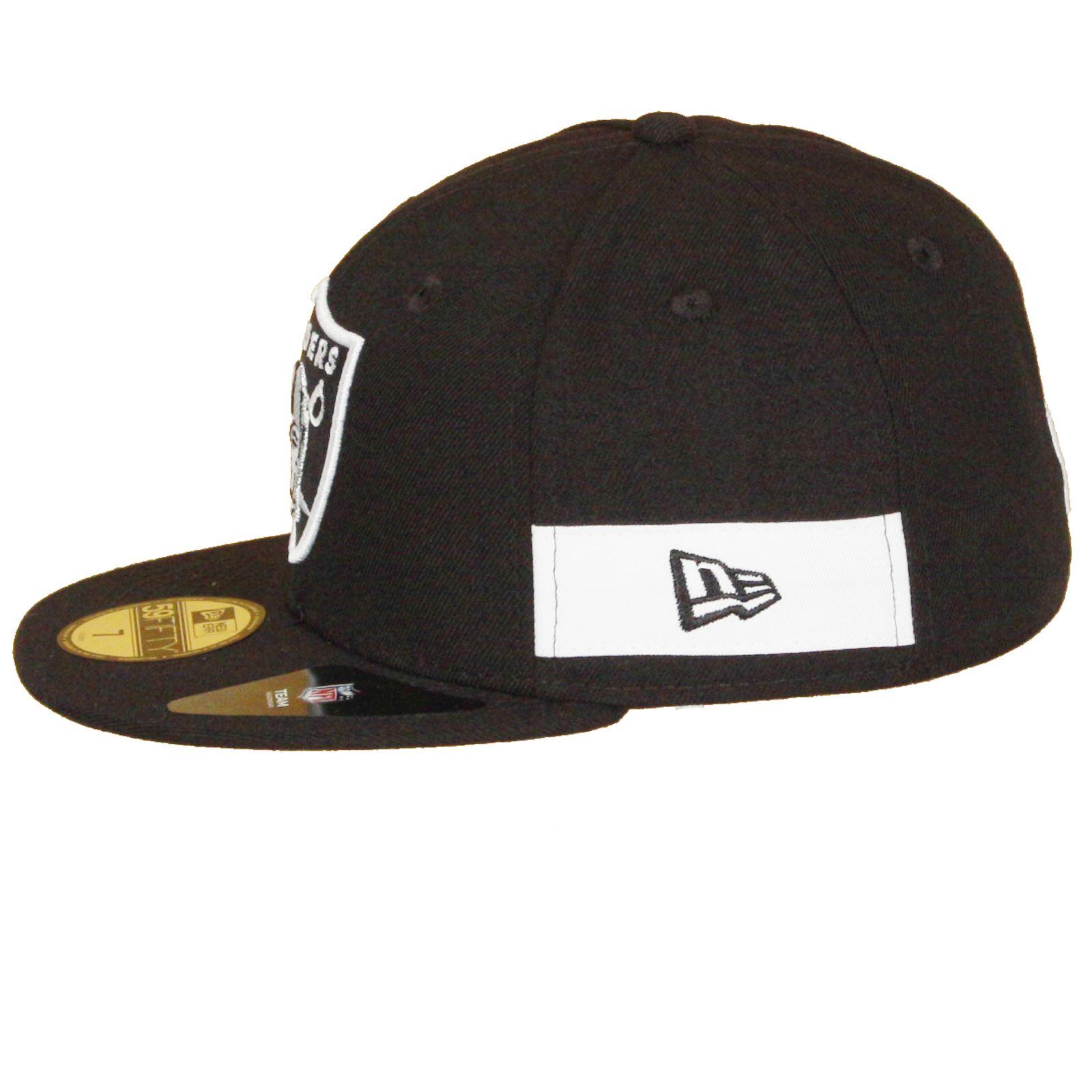 New Era Side Block Fitted 59Fifty Flatbill cap ~ Oakland Raiders