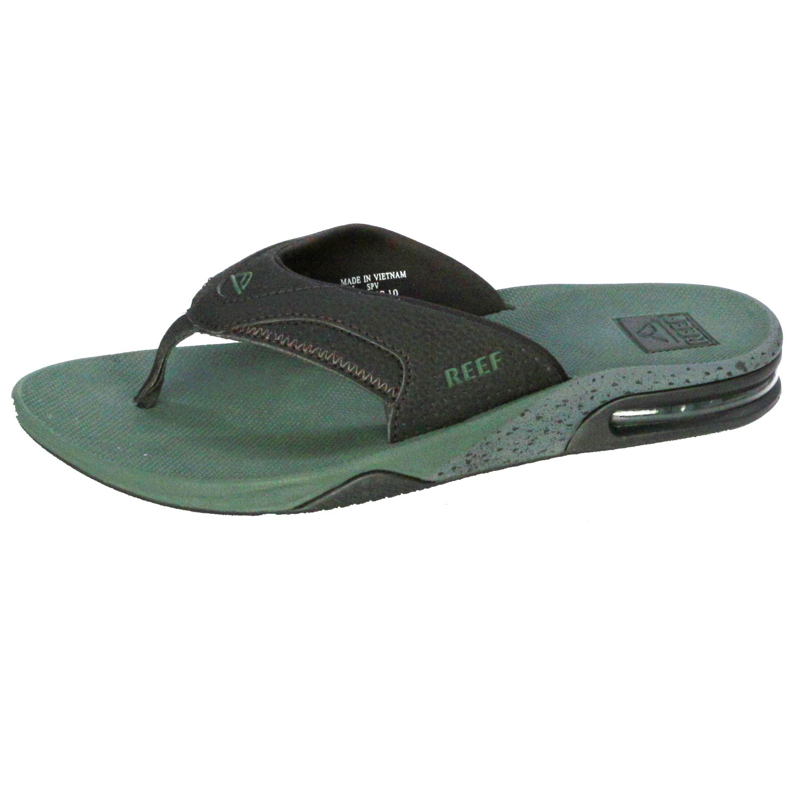 reef water friendly mens sandals with bottle opener fanning olive. Black Bedroom Furniture Sets. Home Design Ideas