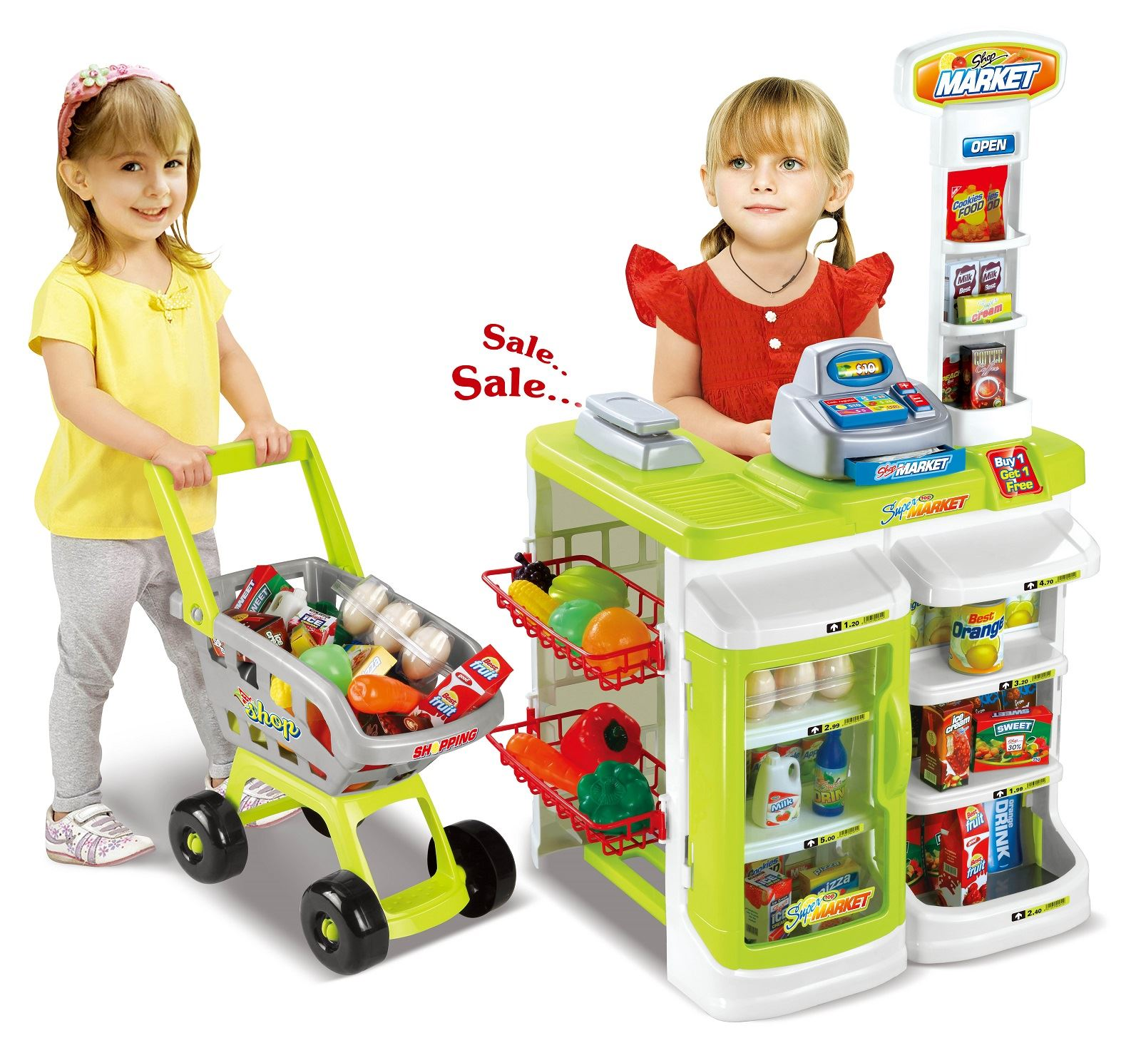 Childrens Kids Pretend Play Supermarket Grocery Shopping Shop