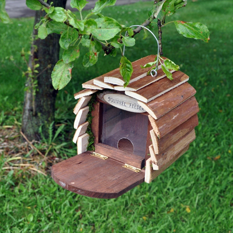 Wooden garden bee insect bird squirrel hotel house home feeder feeding station ebay - Wooden garden ornaments ...