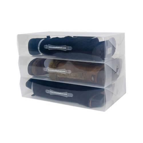 Vinsani Plastic Transparent Storage Organiser Foldable Boots Box With Handle Ebay