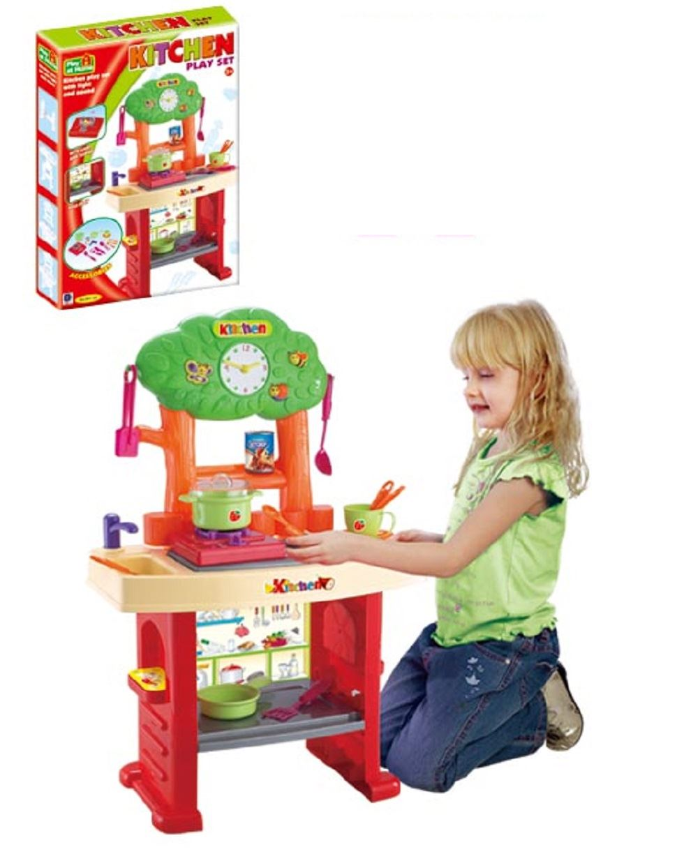 Light Amp Sound Kitchen Playset Childrens Pretend Play