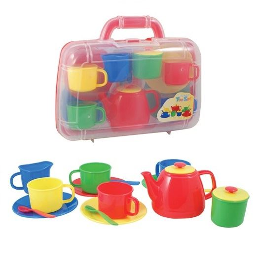 Children kids plastic picnic tea set with teapot drink - Cups and kids ...