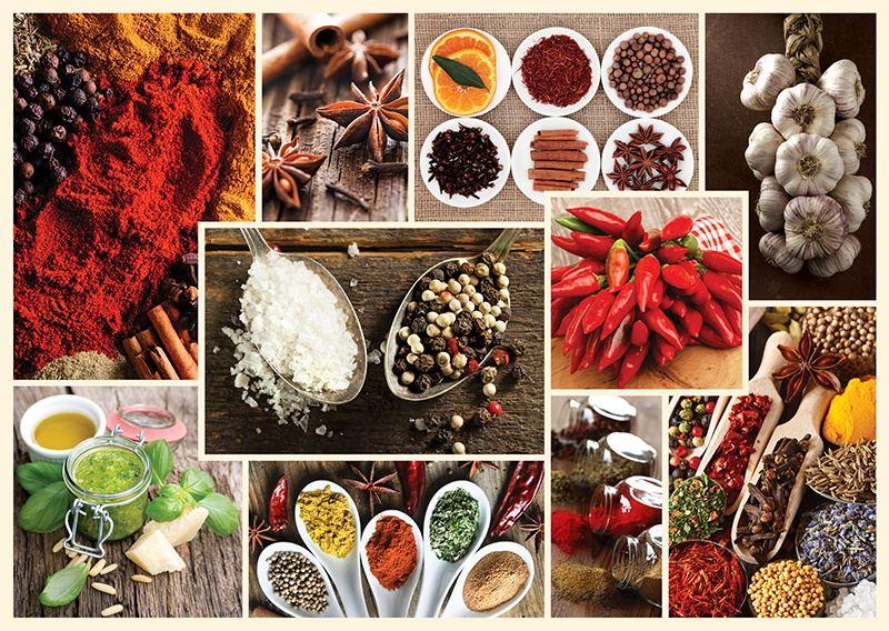 Trefl 1000 piece cuisine food muffin candy coffee spices decor jigsaw puzzle - Plaque decorative cuisine ...