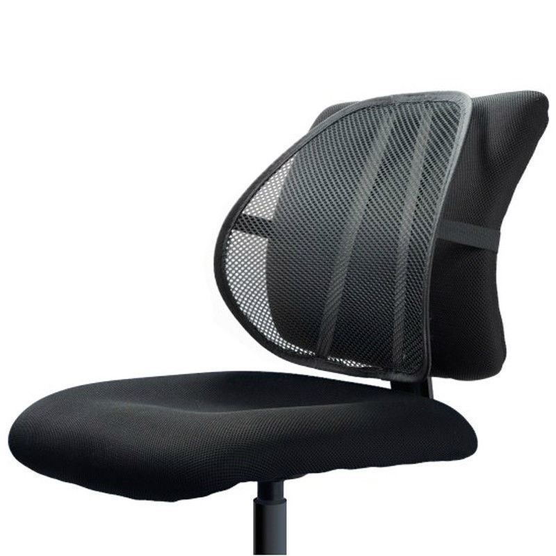 black cool air back mesh lumbar home office car seat chair back pain support ebay. Black Bedroom Furniture Sets. Home Design Ideas
