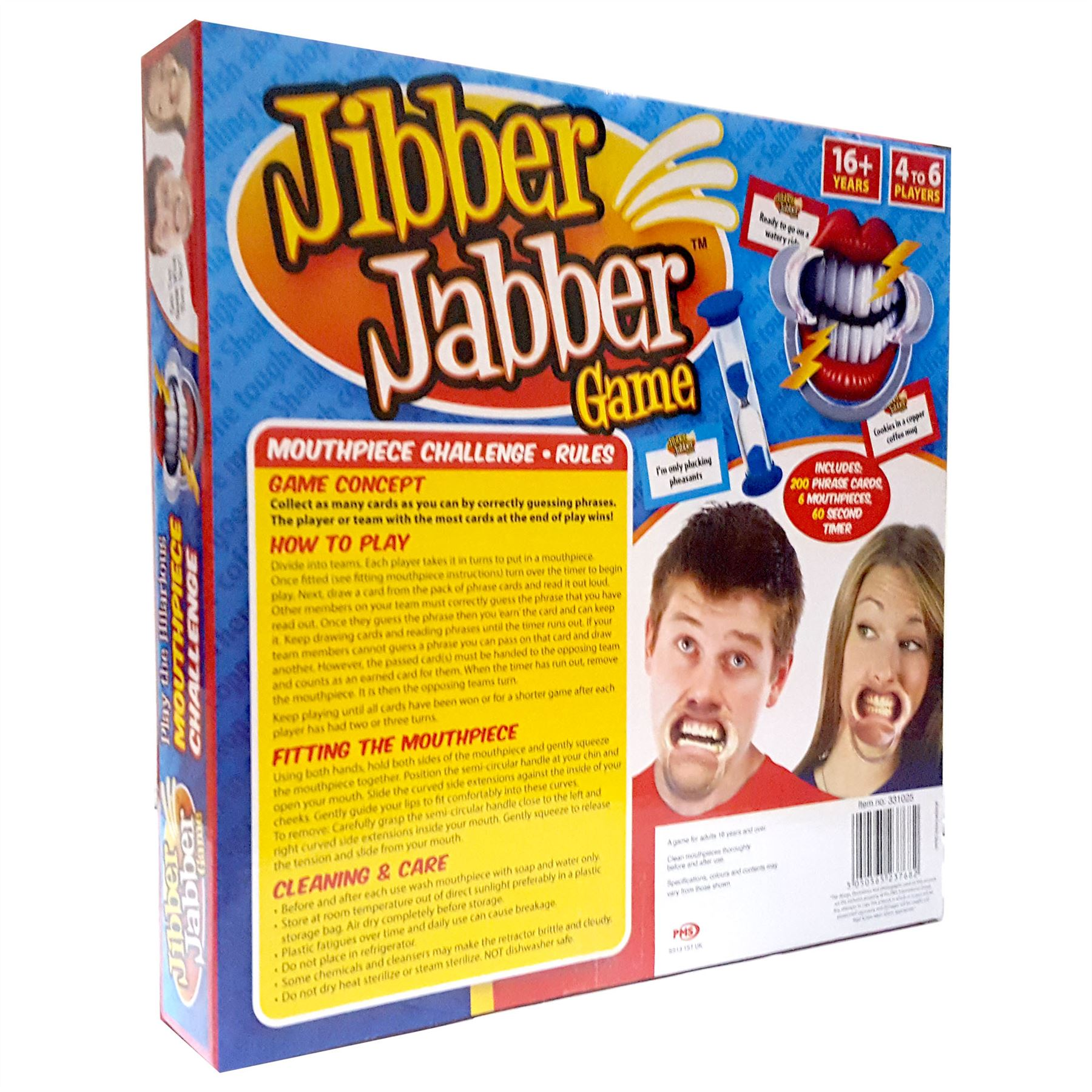 Jibber jabber party game the hilarious mouthpiece challenge board