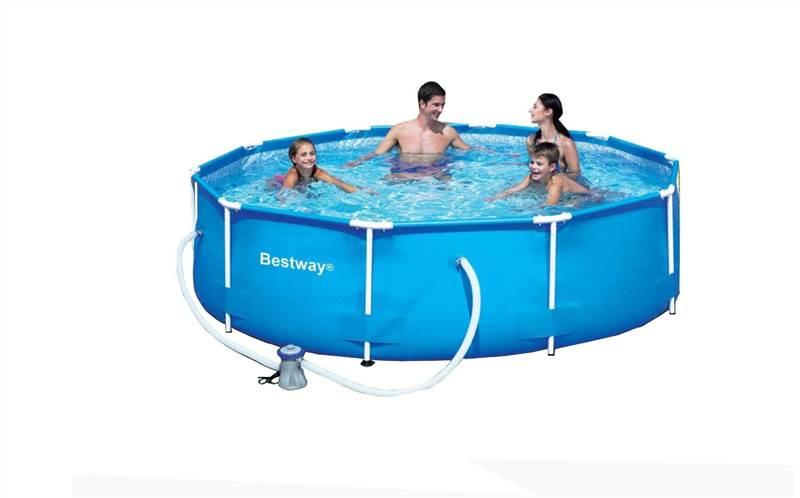 Bestway 10ft X30in Deep Steel Swimming Pool With Filter Pump