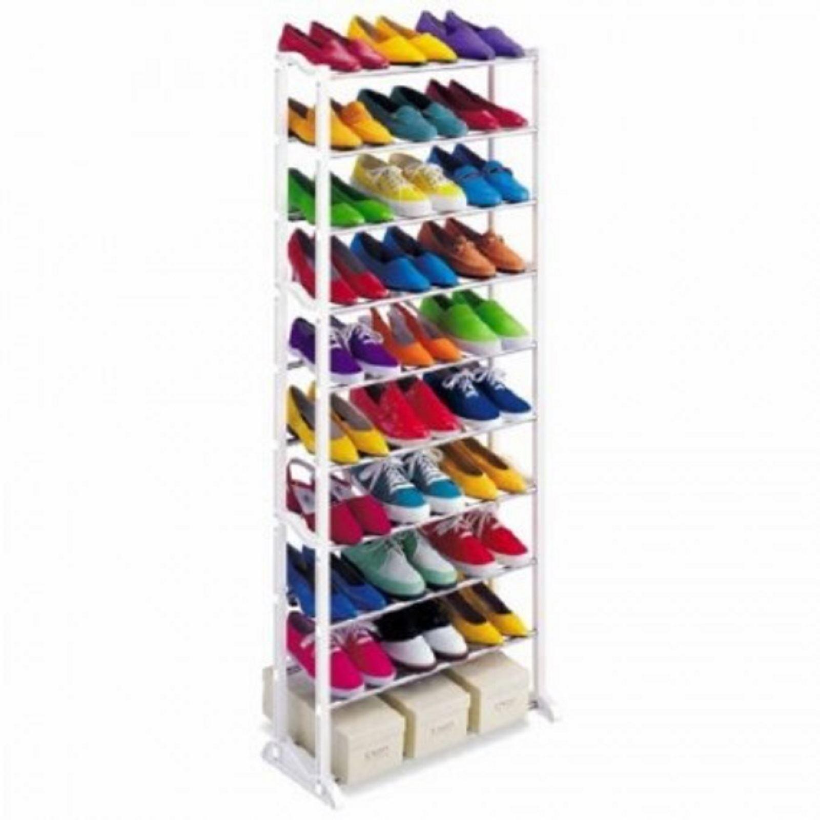 7-e-10-TIER-SCARPE-TACCHI-Storage-Rack-Organizzatore-accantonare-STAND