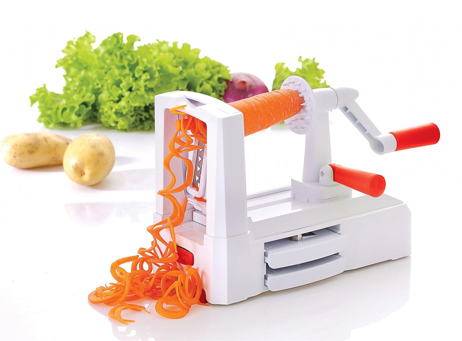 Vinsani Tri Blade Spiral Vegetable Slicer Spiralizer ...