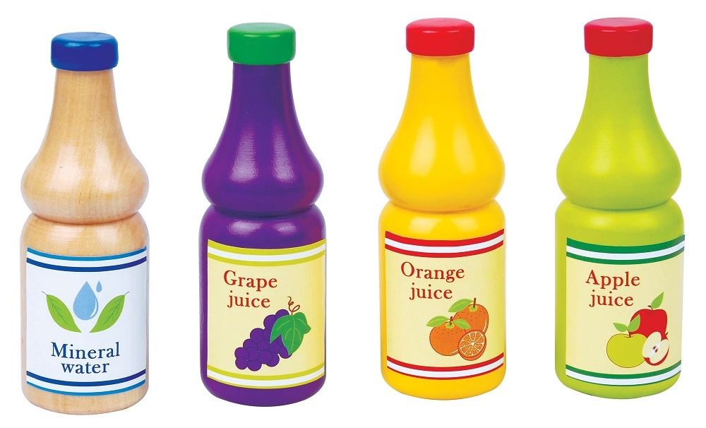 Lelin Wooden Wood Childrens Kids Drinks Juice Beverage