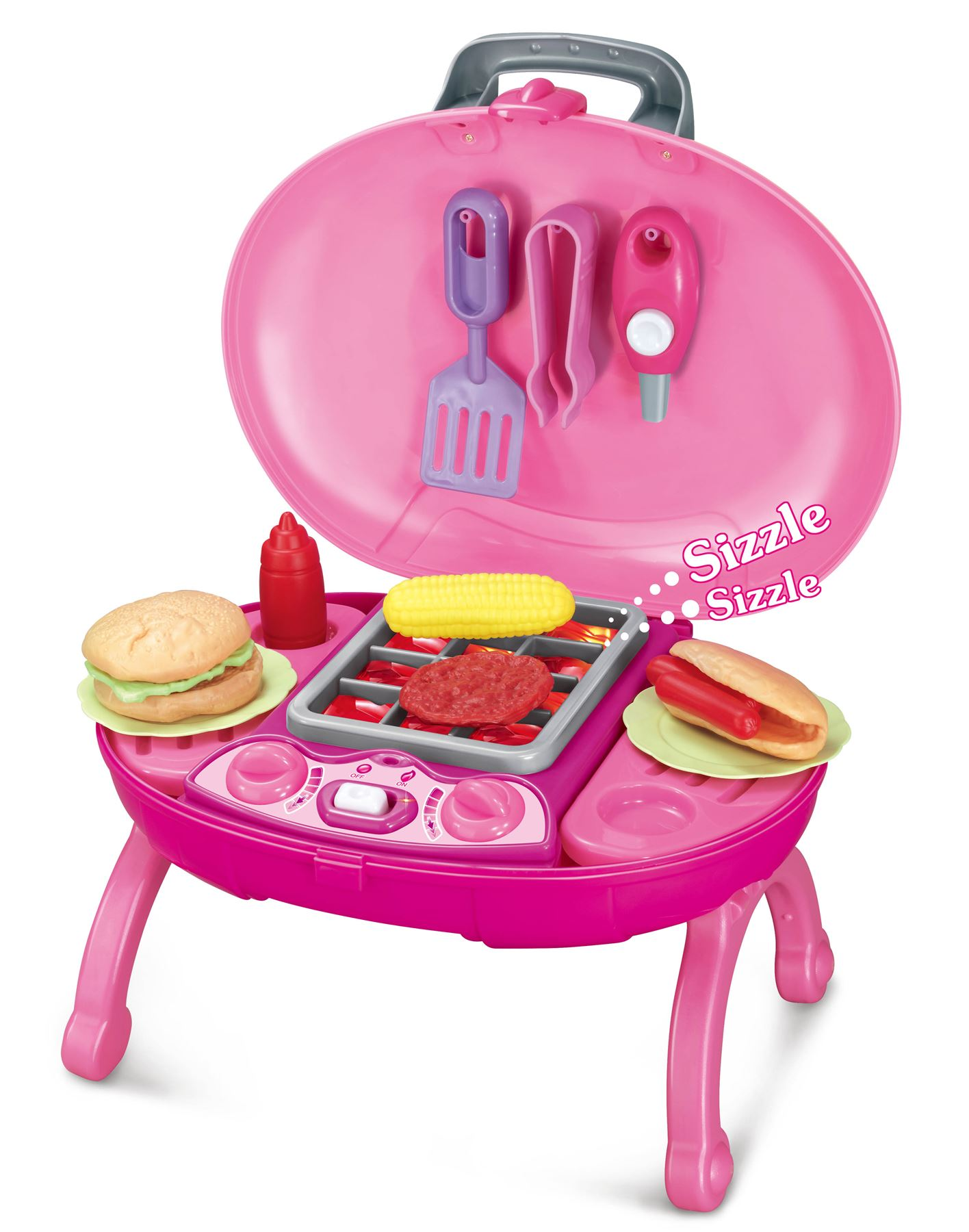 Play Food Set Toys : Electronic lights and sounds pretend play bbq barbecue