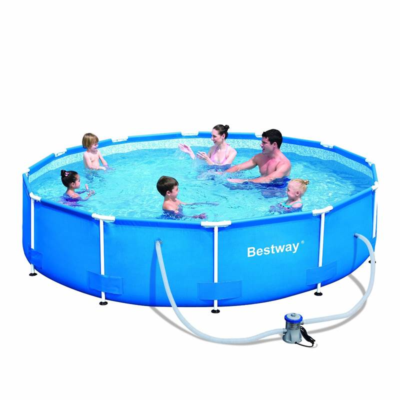 10ft 12ft steel frame family childrens outdoor garden for Bestway piscine service com