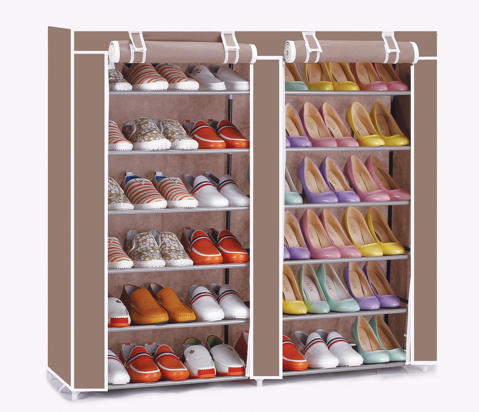 vinsani 12 tier canvas shoe shelf standing storage