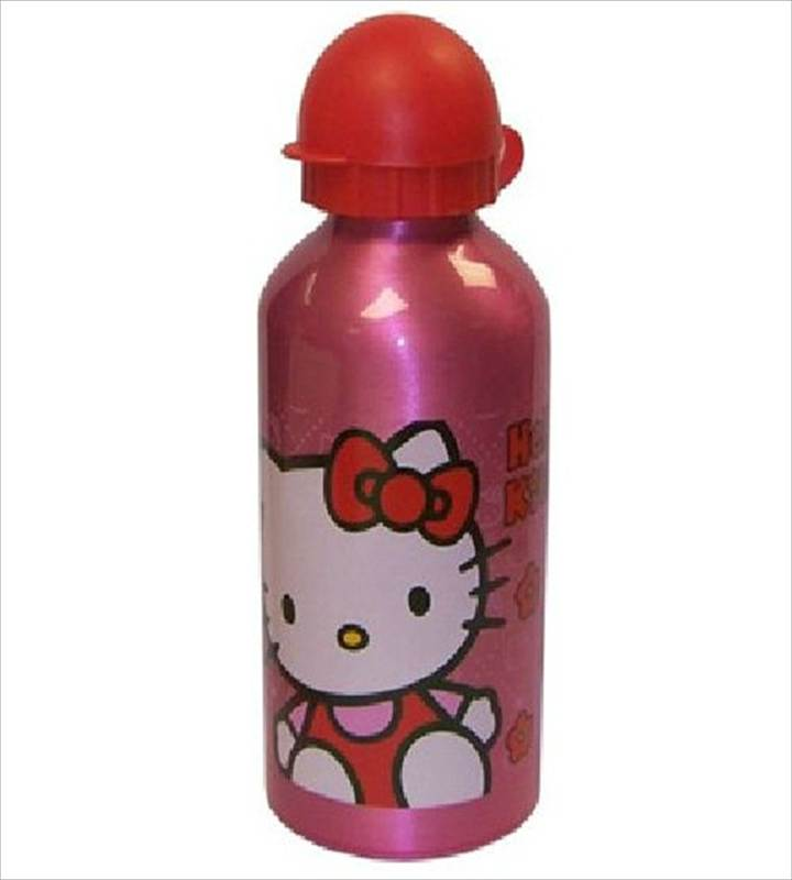KIDS CHARACTER 500ml ALUMINIUM DRINKING DRINK WATER BOTTLE FUN SCHOOL BOTTLE