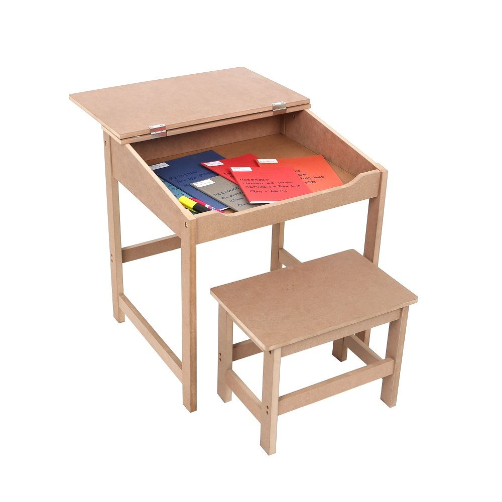 Wooden Reading Table ~ Childrens kids wooden study home work writing reading