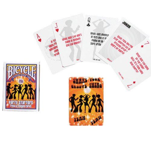 bicycle deckades party starters retro trivia  u0026 playing cards
