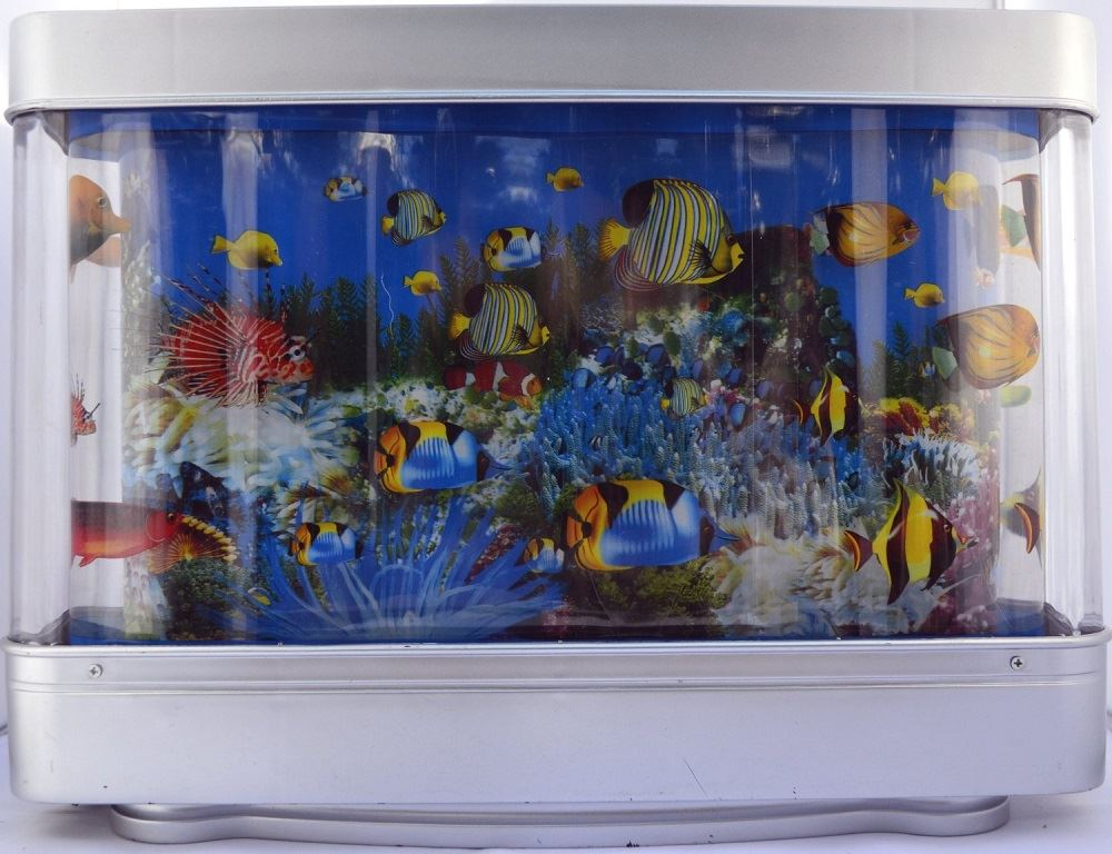living fish aquarium moving motion artificial tropical
