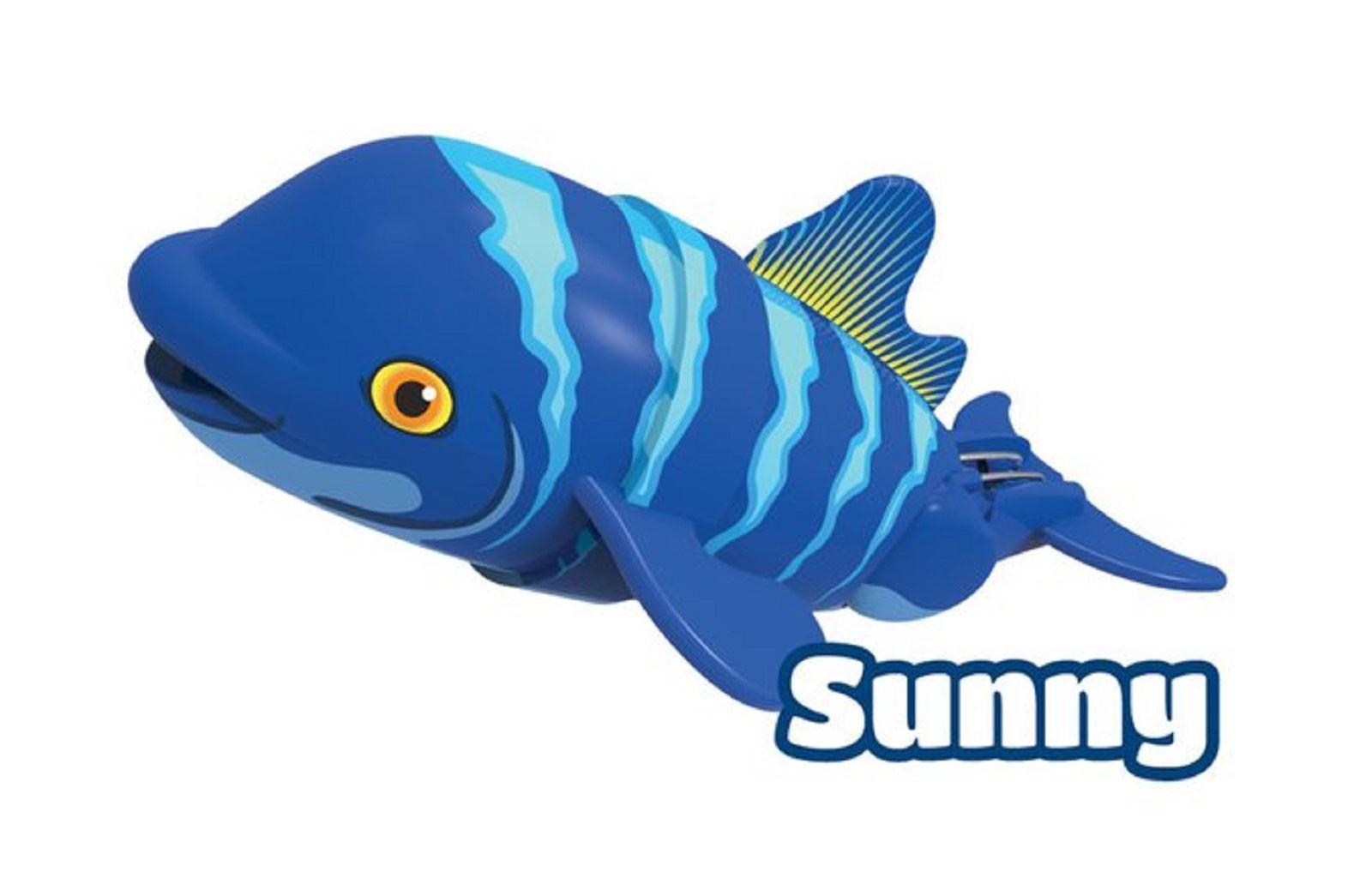 Toys For Swimming : Lil fishys motorised robotic swimming water fish shark
