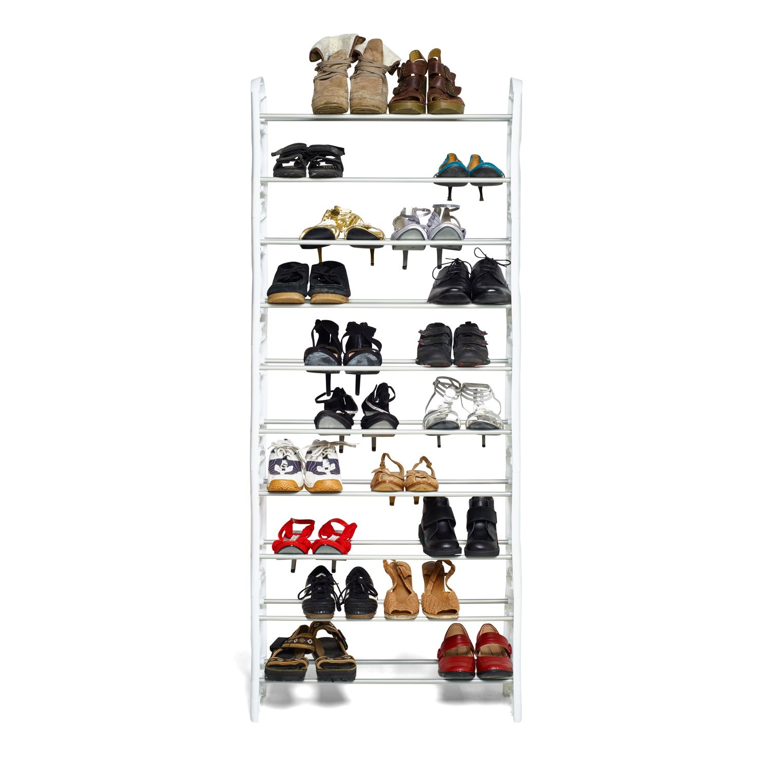 Vinsani-10-Tier-Shoes-Heels-Storage-Organiser-Stand-Shelf-Rack-Holds-Shoes