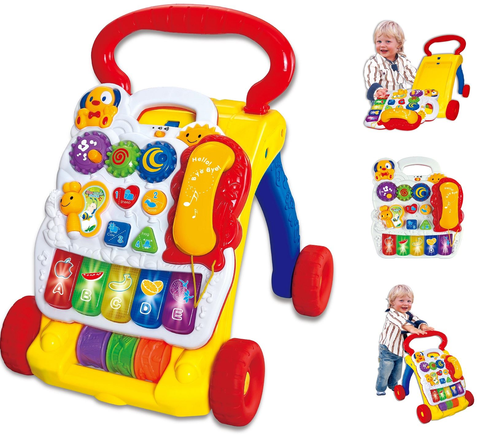 2 In 1 Childrens Baby Musical Sounds Activity Push Along