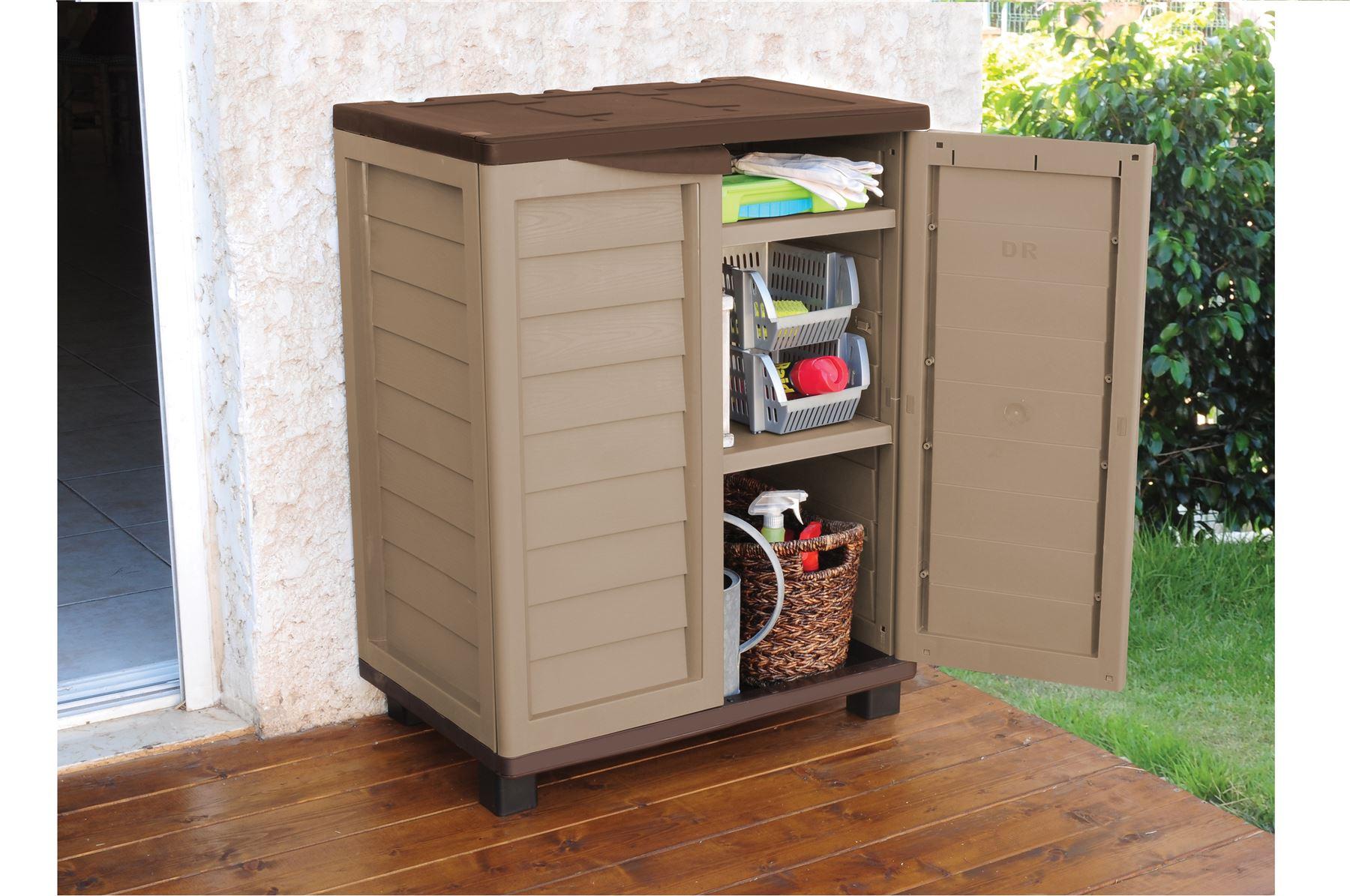 Covered Outdoor Storage : Garden indoor outdoor garage storage low utility cabinet