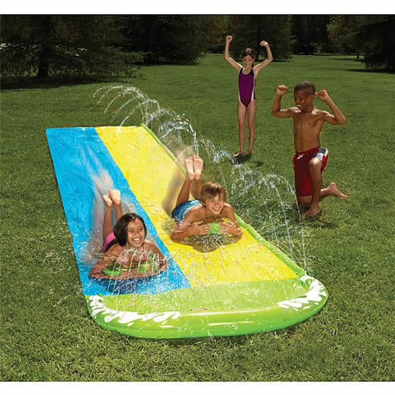 slip n slide wham o wave rider double water slide kids. Black Bedroom Furniture Sets. Home Design Ideas
