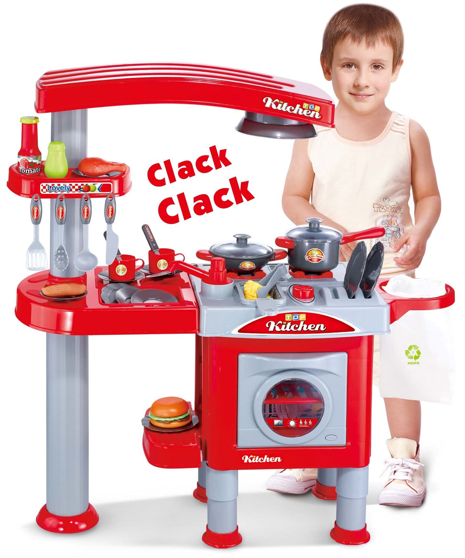 Electronic Kitchen Set: Electronic Lights And Sounds Pretend Play Deluxe Kitchen