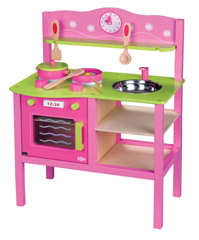 Lelin Wooden My First Kitchen Cookery Cooker Oven Childrens Pretend Play Ebay