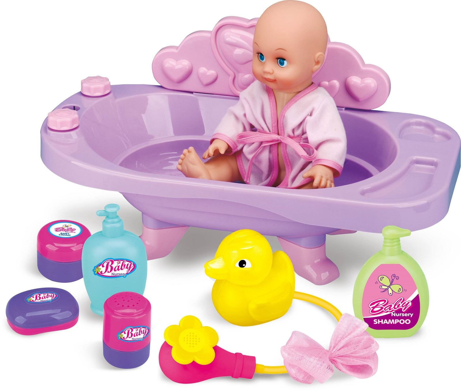 large pretend play baby doll bath tub and free baby doll ebay. Black Bedroom Furniture Sets. Home Design Ideas
