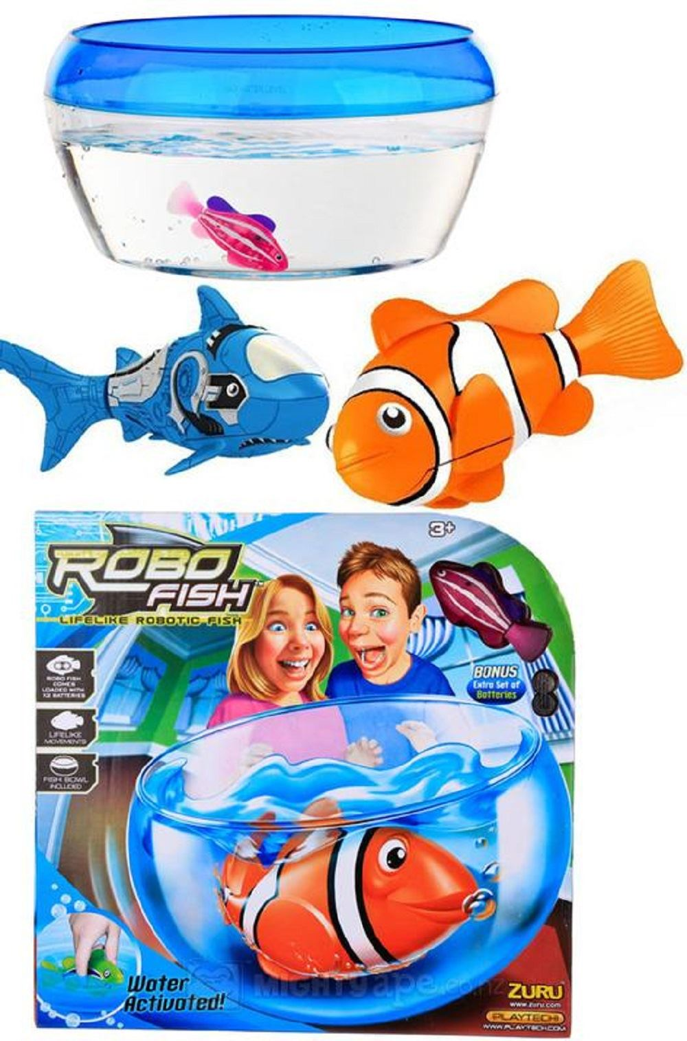 Zuru water activated robo robotic electronic swimming fish for Robo fish toy
