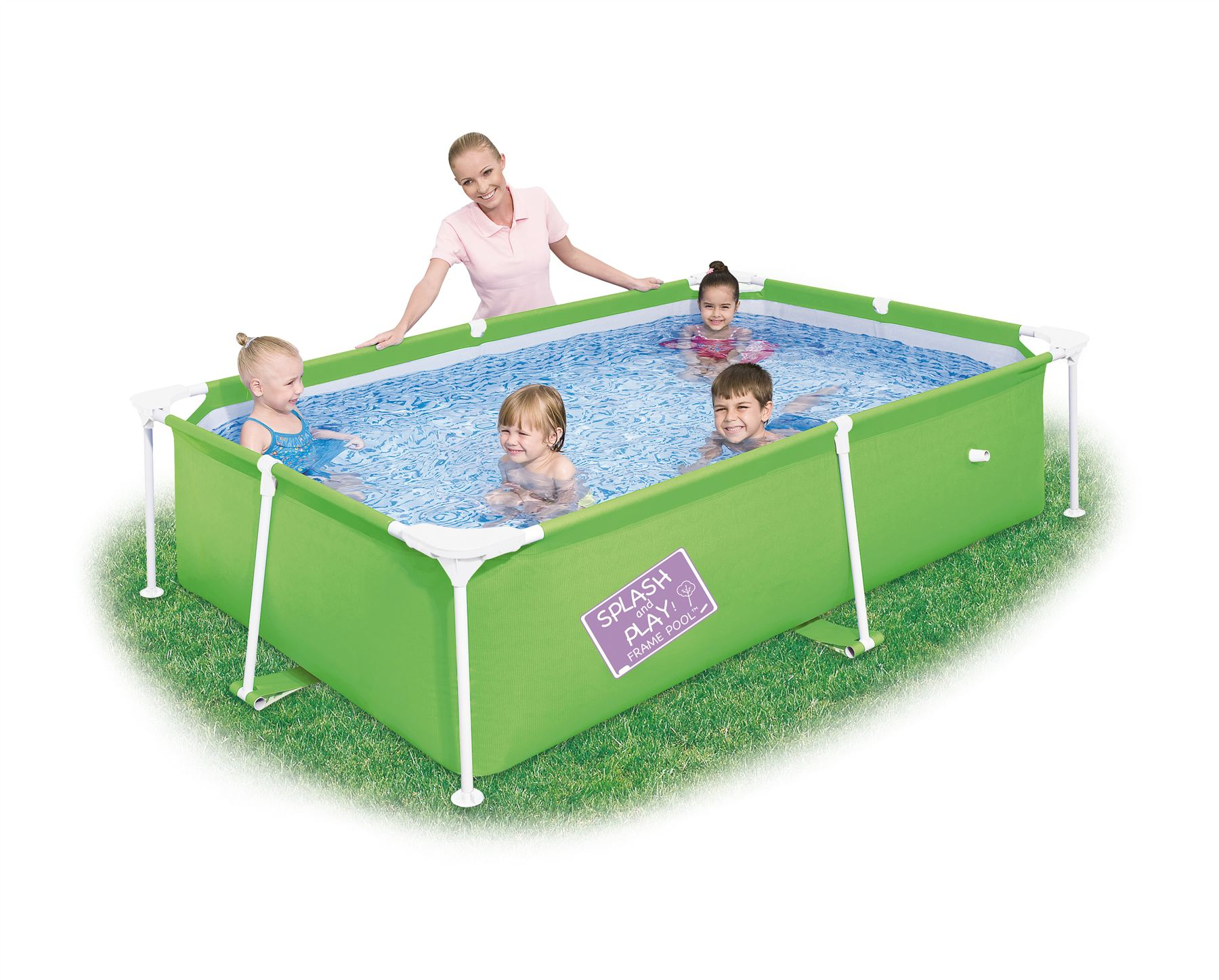 Bestway my first frame swimming paddling pool childrens for Children s garden pools