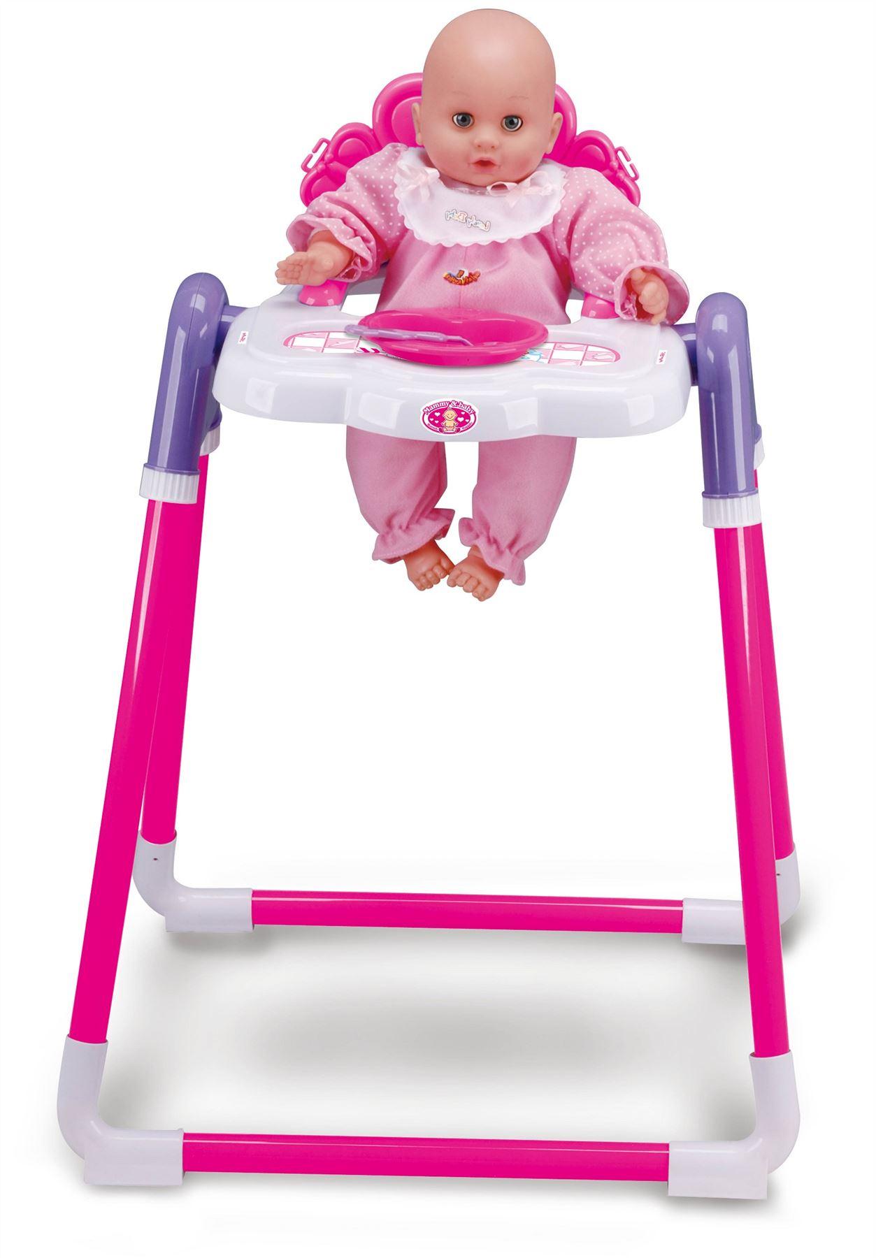 Baby Doll Childrens Kids Pretend Play Feeding High Chair
