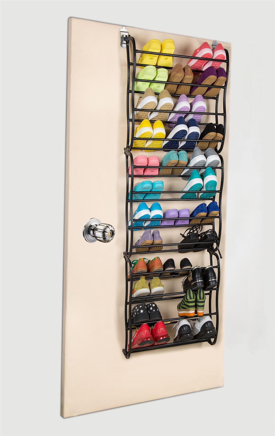 36 Pair Over The Door Hanging Shoe Rack 36 Pair Over The Door Hanging