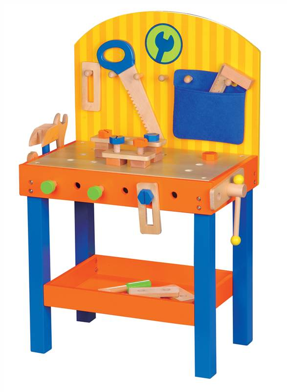 Lelin Children Kids 30 Pieces Wooden Carpenter Builder Work Diy Tool Bench Toy Ebay