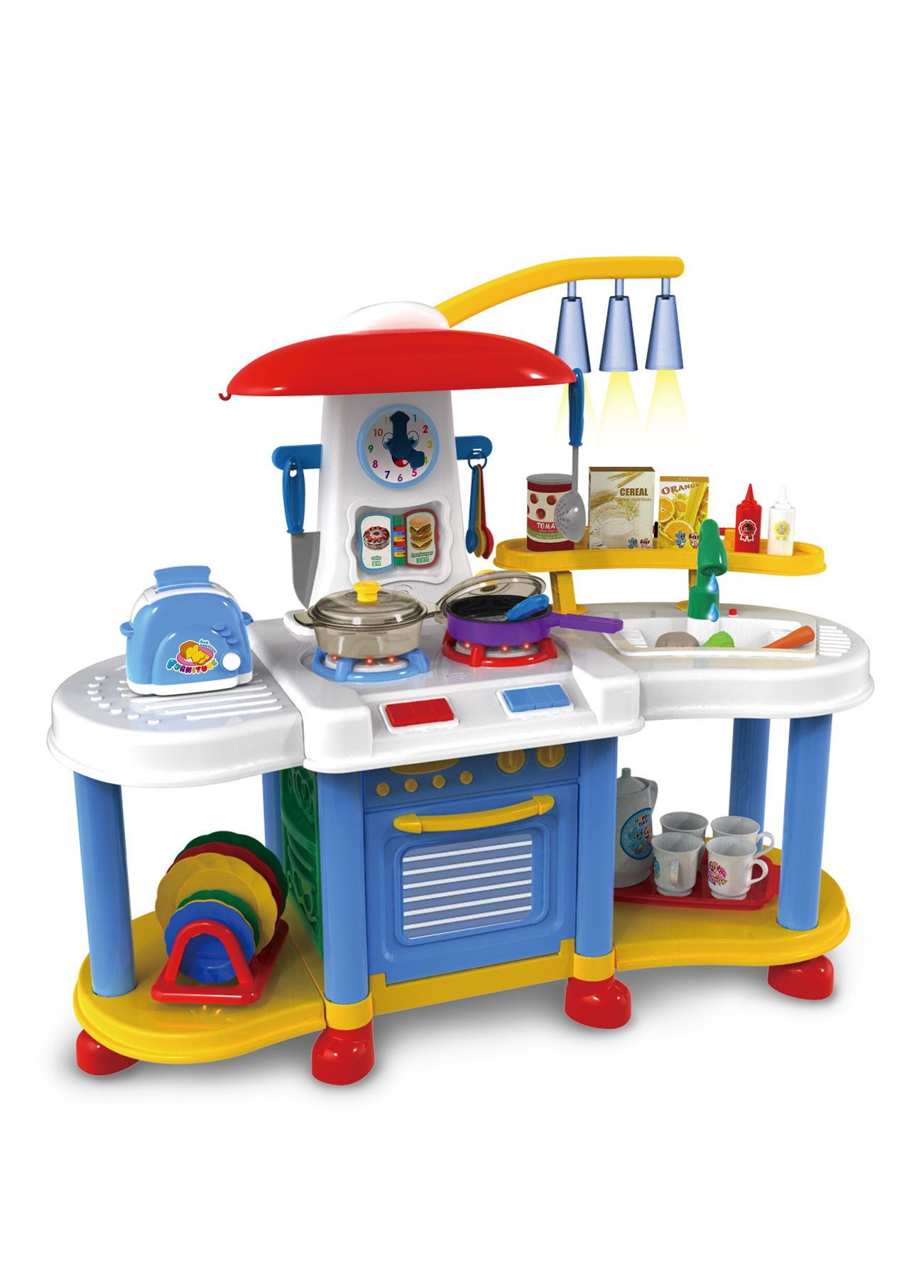 Vinsani kitchen food cooking appliances kids craft pretend for Kitchen set games