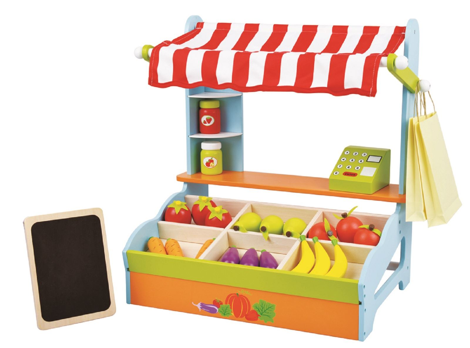 Lelin Wooden Childrens Mini Supermarket Shopping Grocery