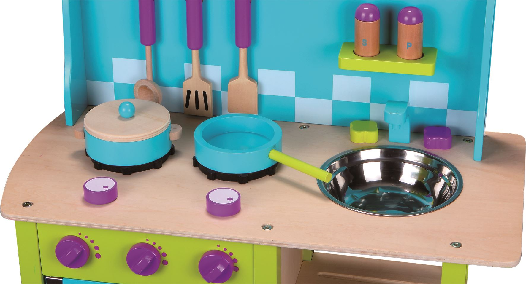 Lelin Wooden Cosy Kitchen Cookery Oven Childrens Role Play