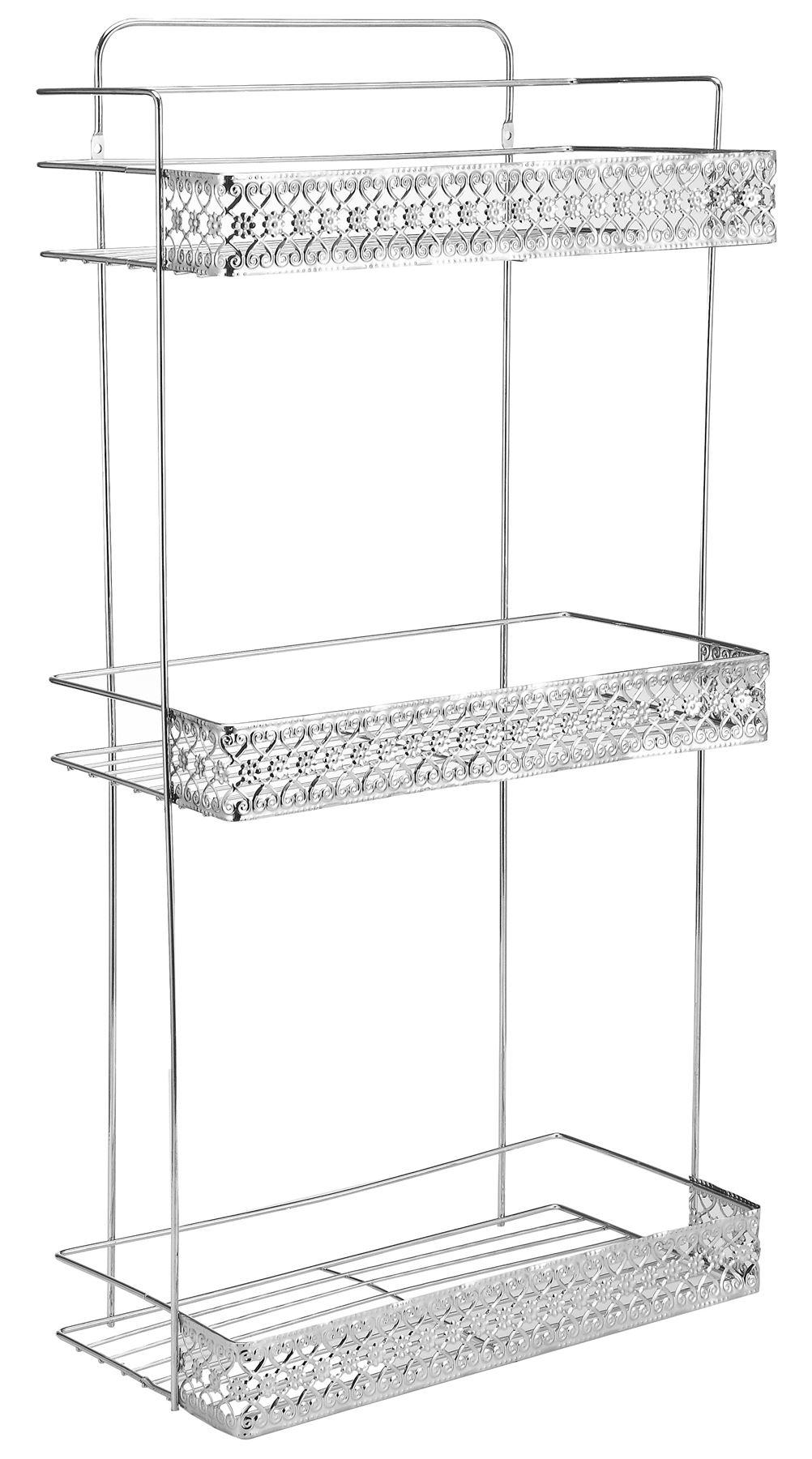 Chrome 3 Tier Corner Bathroom Shower Shelf Caddy Basket Tidy Organiser Rack