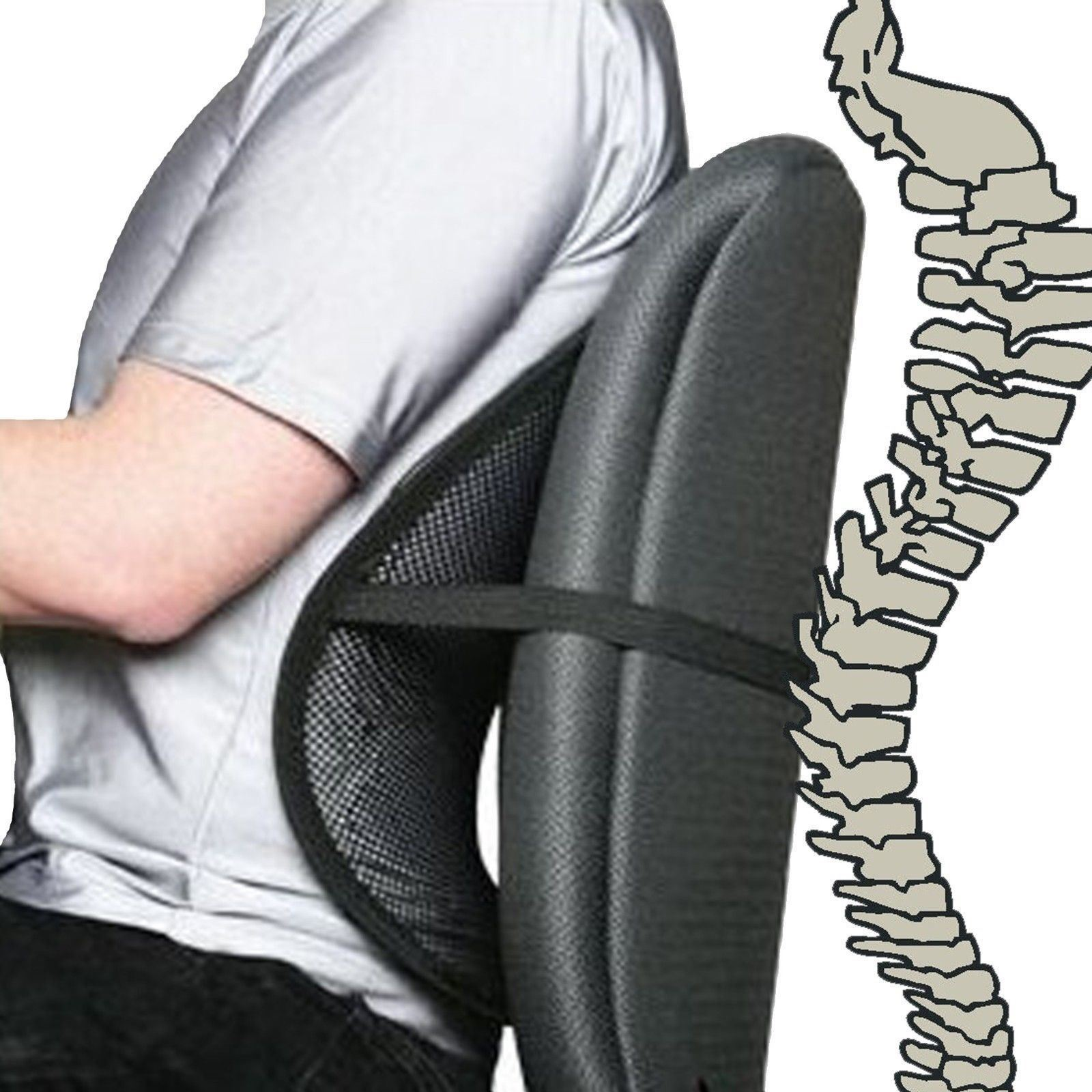 cool air back mesh lumbar home office car seat chair back pain support