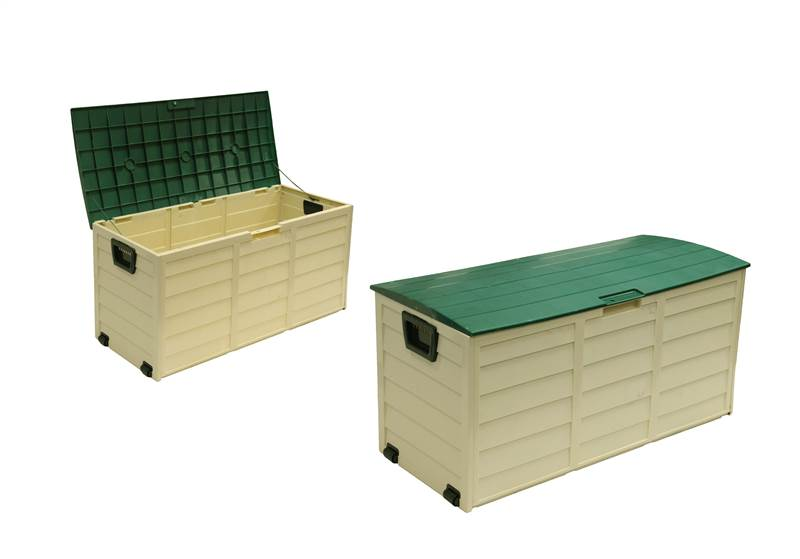 waterproof garden outdoor plastic storage utility shed chest box with
