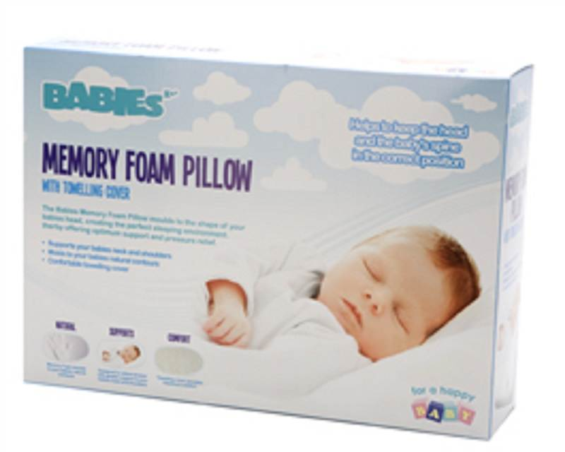 baby babies memory foam pillow safety head support foam pillow cot crib bed ebay. Black Bedroom Furniture Sets. Home Design Ideas