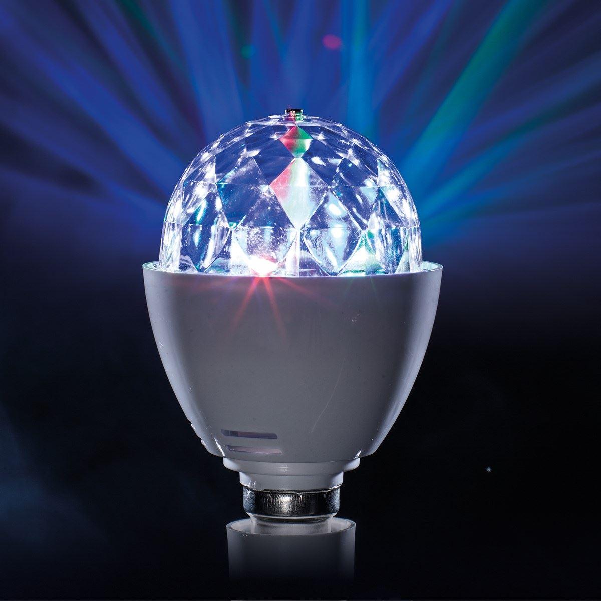 Led disco ball light rotating multi colour in screw or b