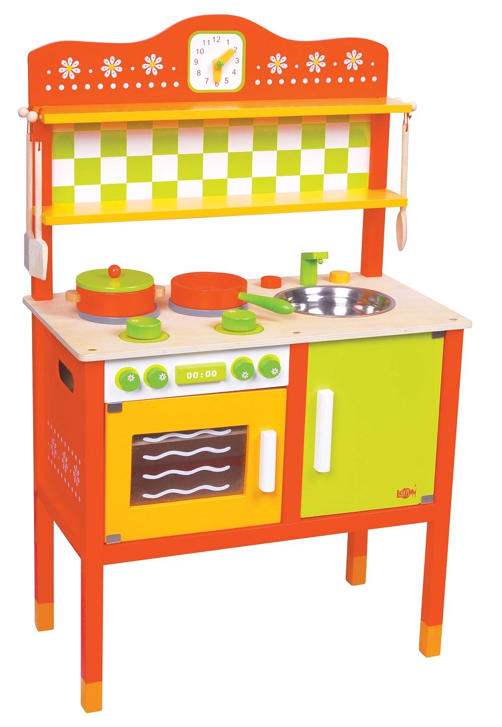 Lelin wooden childrens gourmet kitchen cooking cuisine for Cuisine wooden