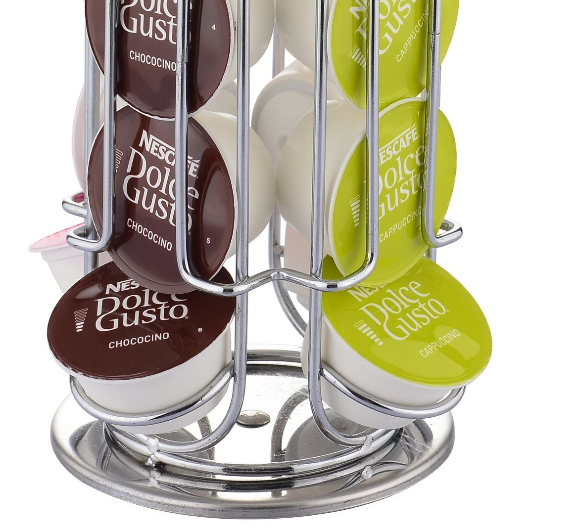 Coffee capsule tower rotating stand holder rack nespresso - Dolce gusto ou tassimo ...