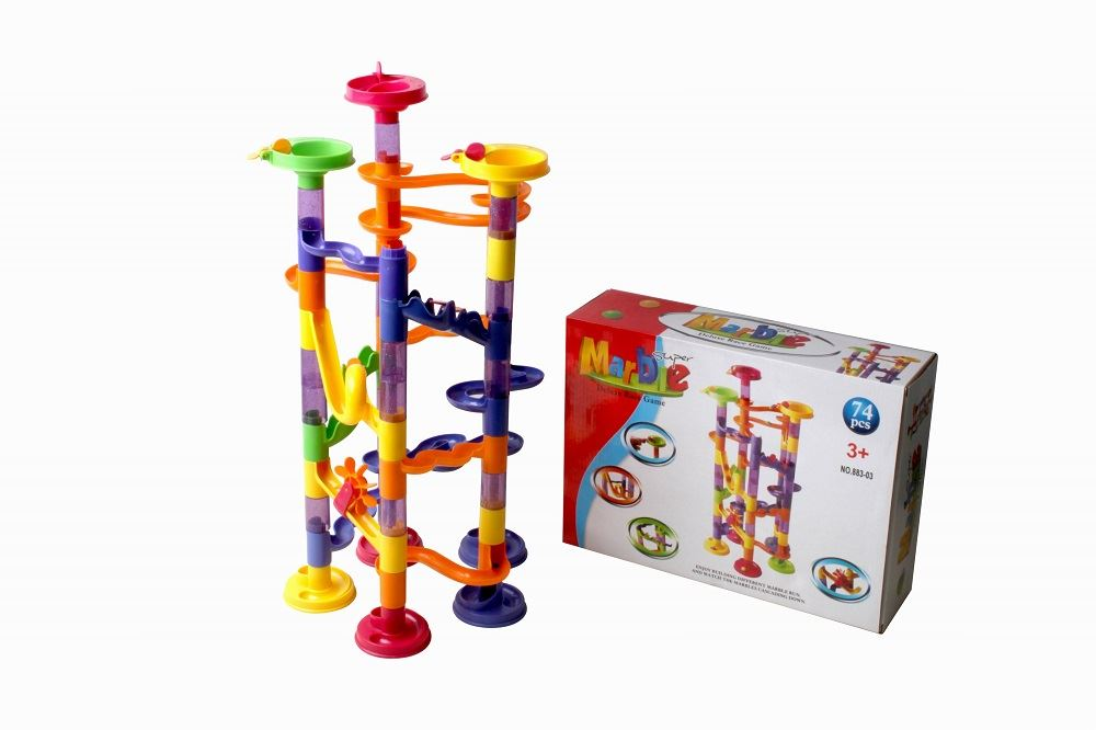 Marble-Run-Race-Construction-Childrens-Kids-Building-Blocks-Creative-Game-Toy