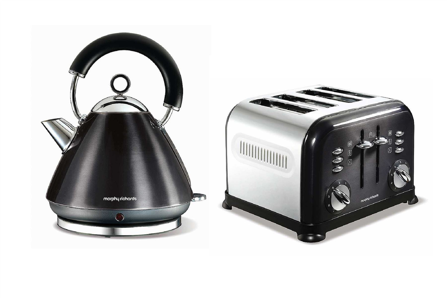 MORPHY RICHARDS METALLIC ACCENTS KETTLE AND RETRO 4 SLICE ...