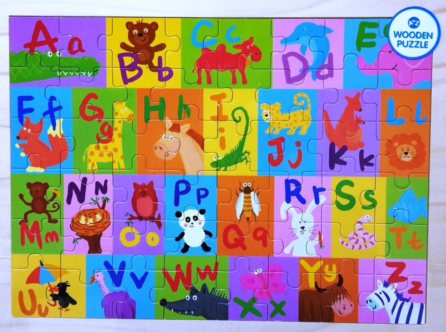 Educational Alphabet Wooden Jigsaw Puzzle Capital & Small