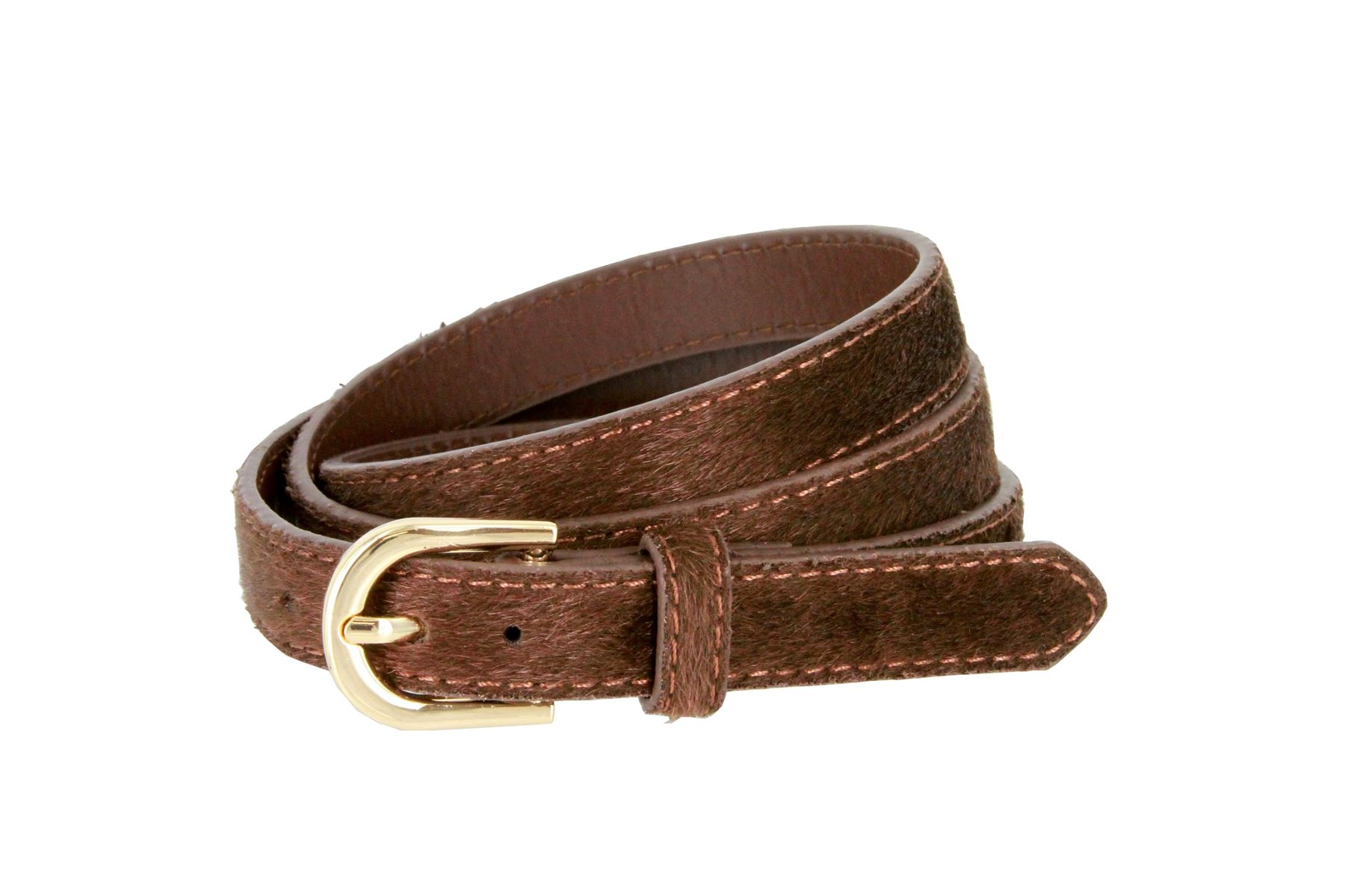 s thin genuine leather hair on belt 3 4 quot wide